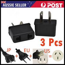 US EU USA JAPAN ASIA to AU Australia Plug AC DC Power Adapter Travel Convert 3x