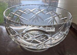 Diamond Cut Glass Bowl, 1930s, dining table centre piece, fruit, flowers, keys?