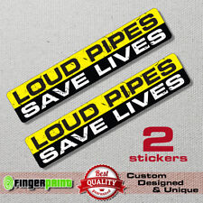 LOUD PIPES SAVE LIVES sticker decal exhaust chopper harley davidson bobber diy