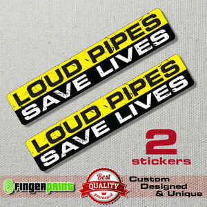 LOUD PIPES SAVE LIVES sticker decal exhaust chopper harley davidson bobber diy