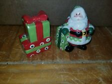 Santa And Present Salt And Pepper Shakers