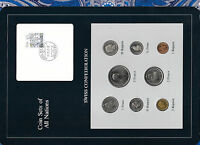 Coin Sets of All Nations Switzerland w/card 1981-1984 UNC 1/2, 1, 5 Francs 1982