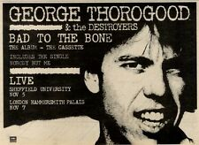 6/11/82PGN13 GEORGE THOROGOOD : BAD TO THE BONE ALBUM ADVERT 7X11""