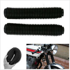 2X 360mm Black Durable Motorcycle ATV Fork Dust Cover Gaiters Boots Shock Rubber