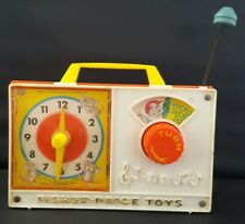Vintage Fisher Price Toys Wind Up Hickory Dickory Dock Clock Radio Not Working