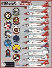 1/48 Furball Cougar Trainers TF-9J decals  for the Kittyhawk kit