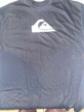 Quicksilver Mens Black Short Sleeve T Shirt with Logo Size small