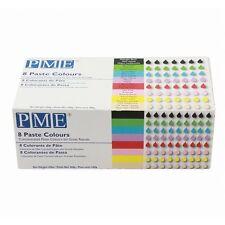 PME concentrato glassa Gel / Incolla colorante alimentare Set Pacco di 8