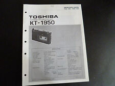 Original Service Manual Toshiba KT-1950