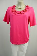 Judith Williams Bluse Shirt Tunika 40 Stretch Pink Strasssteine
