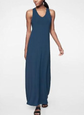 $128 ATHLETA WOMEN'S BLUE SLEEVELESS GETAWAY MAXI DRESS Sz M Tall