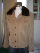 Louis Vuitton Damier Mink Fur Collar Corduroy Jacket 36