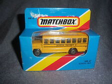267B Vintage Matchbox 1981 MB 47 Bus School Bus School District 2 US 1:76