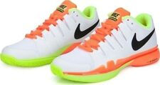Nike Zoom Vapor 9.5 Tour tennis shoes - white, orange & volt UK 5.5