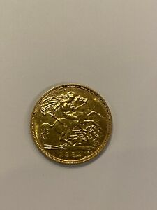 STUNNING 22CT GOLD 1982 HALF SOVEREIGN GOLD COIN 3.99 GRAMS