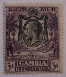 Gambia: 1922-29 SG138 3s bright aniline violet. Fine mint.