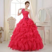 womens  Lady Wedding Gown Quinceanera Dress Formal Pageant Ball Dresses Bridal