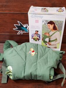 Disney Baby Winnie The Pooh 2 Position Front Carrier Green The First Years NOS