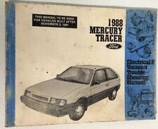 Ford 1988 Mercury Tracer Electrical & Vacuum Troubleshooting Manual