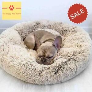 Comfy Calming Round Super Soft Plush Pet Bed