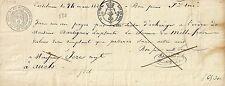 PAPIER ANCIEN PARCHEMIN DECHARGE ORDRE DE PAIEMENT CASTELNAU 1826