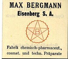 MAX Bergmann Eisenberg I. sa. fabbrica chimicamente-Pharma. preparati trademark 1908