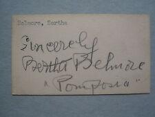 BERTHA  BELMORE (Died  in  1953)  Sir  Philip  Ben  Greit  Signed  2 x 3  Card