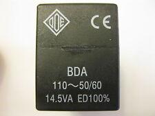 O.D.E BDA 110V-50/60HZ 14.5VA  SOLENOID VALVE COIL  13MM replacement OLAB 7000