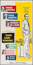 "Poster Some Came Running 1959 3 Sheet 41""x79"" VF 7.5 Frank Sinatra Dean Martin"