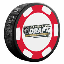 2017 NHL EXPANSION DRAFT LAS VEGAS GOLDEN KNIGHTS SOUVENIR PUCK POKER CHIP RARE