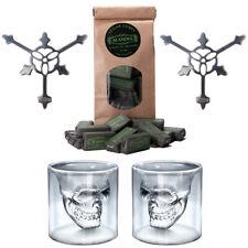 Absinth Glas / Gläser Löffel Set   Totenkopf / Skull Design   ALANDIA™