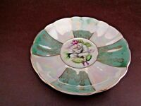 Vintage Iridescent Saucer Floral Pattern (Unmarked) (Cat.#11A071)