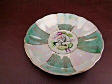 Vintage Iridescent Saucer Floral Pattern (Unmarked) (Cat.#11A071)