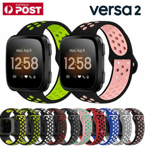 Silicone Sport Replacement Watch Band Wrist Strap For Fitbit Versa 2 2019