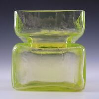 Riihimaki/Riihimaen Helena Tynell Uranium Glass Pala Vase