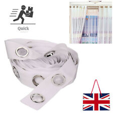 5/10 Meters Curtain Heading Tape Round Eyelet Rings for Curtain Blinds