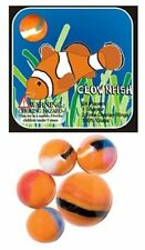 Mega Marble- 24 Collectible Marbles,1 Shooter, Net bag- Clownfish