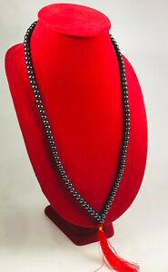 108 Beads Mala Black Leklai Namphee Necklace Thai Amulet Gemstone Protect wealth