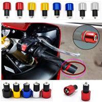 7//8″22mm Motorcycle Handle Bar Ends Plug Hand Grip Anti-Vibration Slider A7C6
