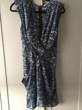 Whistles Silk Animal Print Tie Front Mini Dress - Excellent Condition - Size 10