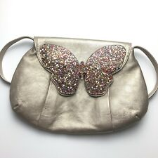 See By Chloe Shoulder Bag Butterfly Purse Vintage Leather Metallic Glitter