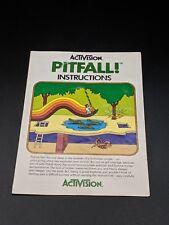 Pitfall Instruction Manual Atari 2600 EX condition