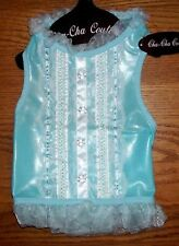 Cha Cha Couture Blue Southern Belle Dog Dress Clothes ( XS or Medium)