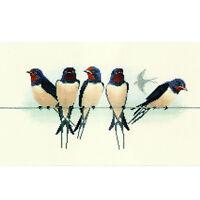 Derwentwater Designs Birds Cross Stitch Kit - Swallows