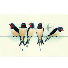 Derwentwater Designs Birds Cross Stitch Kit - Swallows
