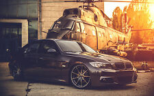 "Poster 24"" x 16"" BMW E90 Deep Concave Black Helicopter"