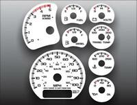 2001-2002 Chevrolet Silverado 2500 3500 Duramax Dash Cluster White Face Gauges