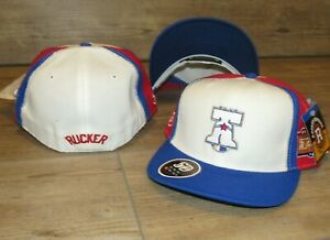 Rucker NYC vs PHI 76ers Harlem Stall & Dean Fitted Hat Cap Men's Size 7 5/8