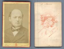 de Marcère vintage CDV albumen carte de visite, Émile Louis Gustave Deshayes de