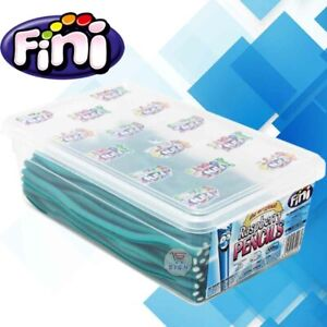 FINI BLUE RASPBERRY PENCILS SWEETS FULL TUB 100 PIECES PARTY TREAT